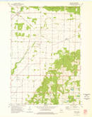 Download a high-resolution, GPS-compatible USGS topo map for Bryant, WI (1976 edition)