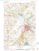 Download a high-resolution, GPS-compatible USGS topo map for Burlington, WI (1991 edition)