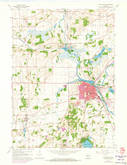 Download a high-resolution, GPS-compatible USGS topo map for Burlington, WI (1973 edition)
