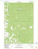 Download a high-resolution, GPS-compatible USGS topo map for Burney Lake, WI (1983 edition)