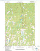 Download a high-resolution, GPS-compatible USGS topo map for Butternut, WI (1984 edition)
