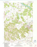 Download a high-resolution, GPS-compatible USGS topo map for Camp Douglas, WI (1984 edition)