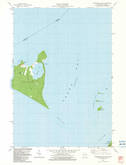 Download a high-resolution, GPS-compatible USGS topo map for Chambers Island, WI (1983 edition)