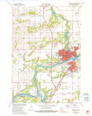 Download a high-resolution, GPS-compatible USGS topo map for Chippewa Falls, WI (1990 edition)