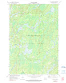 Download a high-resolution, GPS-compatible USGS topo map for Clam Lake SE, WI (1990 edition)