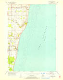 Download a high-resolution, GPS-compatible USGS topo map for Cleveland, WI (1956 edition)