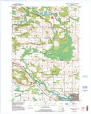 Download a high-resolution, GPS-compatible USGS topo map for Clintonville North, WI (1995 edition)