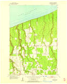Download a high-resolution, GPS-compatible USGS topo map for Cloverland, WI (1955 edition)