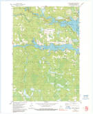 Download a high-resolution, GPS-compatible USGS topo map for Coffee Creek, WI (1991 edition)
