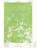 Download a high-resolution, GPS-compatible USGS topo map for Couderay, WI (1973 edition)