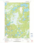 Download a high-resolution, GPS-compatible USGS topo map for Dam Lake, WI (1990 edition)