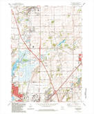 Download a high-resolution, GPS-compatible USGS topo map for De Forest, WI (1984 edition)