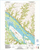 Download a high-resolution, GPS-compatible USGS topo map for Diamond Bluff West, WI (1995 edition)