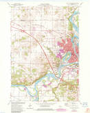 Download a high-resolution, GPS-compatible USGS topo map for Eau Claire West, WI (1983 edition)