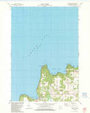 Download a high-resolution, GPS-compatible USGS topo map for Ellison Bay, WI (1983 edition)