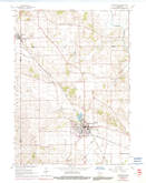 Download a high-resolution, GPS-compatible USGS topo map for Evansville, WI (1991 edition)