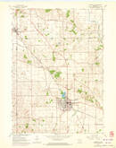 Download a high-resolution, GPS-compatible USGS topo map for Evansville, WI (1972 edition)