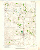 Download a high-resolution, GPS-compatible USGS topo map for Evansville, WI (1964 edition)