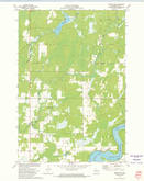 Download a high-resolution, GPS-compatible USGS topo map for Exeland SE, WI (1975 edition)