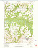 Download a high-resolution, GPS-compatible USGS topo map for Fall Creek, WI (1975 edition)