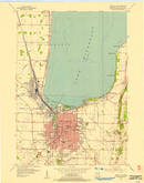 Download a high-resolution, GPS-compatible USGS topo map for Fond Du Lac, WI (1966 edition)