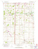 Download a high-resolution, GPS-compatible USGS topo map for Franksville, WI (1972 edition)