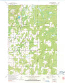 Download a high-resolution, GPS-compatible USGS topo map for Gleason, WI (1991 edition)