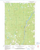 Download a high-resolution, GPS-compatible USGS topo map for Grandfather Falls, WI (1991 edition)