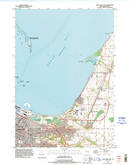 Download a high-resolution, GPS-compatible USGS topo map for Green Bay East, WI (1996 edition)