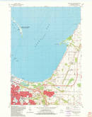 Download a high-resolution, GPS-compatible USGS topo map for Green Bay East, WI (1982 edition)