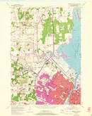 Download a high-resolution, GPS-compatible USGS topo map for Green Bay West, WI (1972 edition)