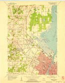 Download a high-resolution, GPS-compatible USGS topo map for Green Bay West, WI (1956 edition)