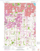 Download a high-resolution, GPS-compatible USGS topo map for Greendale, WI (1977 edition)