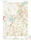 Download a high-resolution, GPS-compatible USGS topo map for Hartford East, WI (1989 edition)