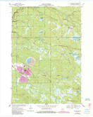 Download a high-resolution, GPS-compatible USGS topo map for Hatfield SW, WI (1985 edition)