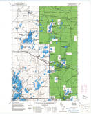 Download a high-resolution, GPS-compatible USGS topo map for Iron Lake SE, WI (1985 edition)
