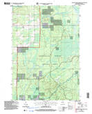 Download a high-resolution, GPS-compatible USGS topo map for Jump River Fire Tower SW, WI (2006 edition)
