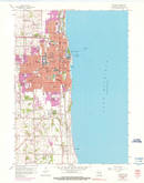 Download a high-resolution, GPS-compatible USGS topo map for Kenosha, WI (1976 edition)
