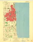 Download a high-resolution, GPS-compatible USGS topo map for Kenosha, WI (1960 edition)