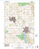 Download a high-resolution, GPS-compatible USGS topo map for Kiel, WI (1996 edition)