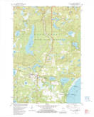 Download a high-resolution, GPS-compatible USGS topo map for Land OLakes, WI (1982 edition)