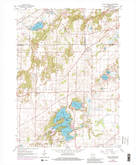 Download a high-resolution, GPS-compatible USGS topo map for Little Prairie, WI (1983 edition)