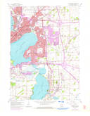 Download a high-resolution, GPS-compatible USGS topo map for Madison East, WI (1975 edition)
