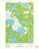 Download a high-resolution, GPS-compatible USGS topo map for Manitowish Lake, WI (1982 edition)