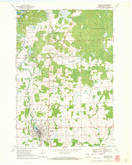 Download a high-resolution, GPS-compatible USGS topo map for Medford, WI (1972 edition)