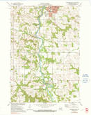 Download a high-resolution, GPS-compatible USGS topo map for Menomonie South, WI (1991 edition)