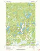 Download a high-resolution, GPS-compatible USGS topo map for Mercer, WI (1991 edition)