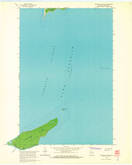 Download a high-resolution, GPS-compatible USGS topo map for Michigan Island, WI (1965 edition)