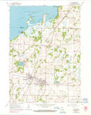 Download a high-resolution, GPS-compatible USGS topo map for Milton, WI (1991 edition)