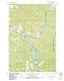 Download a high-resolution, GPS-compatible USGS topo map for Miscauno Island, WI (1983 edition)